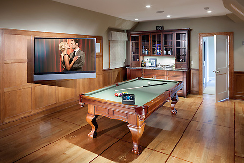 Billiard Room with Articulating TV