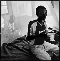 Kuito, Angola, May, 22, 2006.Fancisco, 36, suffers from Tuberculosis and is a patient in Bi&eacute; Province Hospital. TB is endemic in the region, fueled by poverty, malnutrition, inadequate hygiene and the rapid spreading of HIV/AIDS since the end of the civil war in 2002.