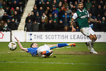 Hibs v St Johnstone...30.01.16   Utilita Scottish League Cup Semi-Final, Tynecastle..<br /> Steven MacLean can't reach Laim Craig's cross<br /> Picture by Graeme Hart.<br /> Copyright Perthshire Picture Agency<br /> Tel: 01738 623350  Mobile: 07990 594431