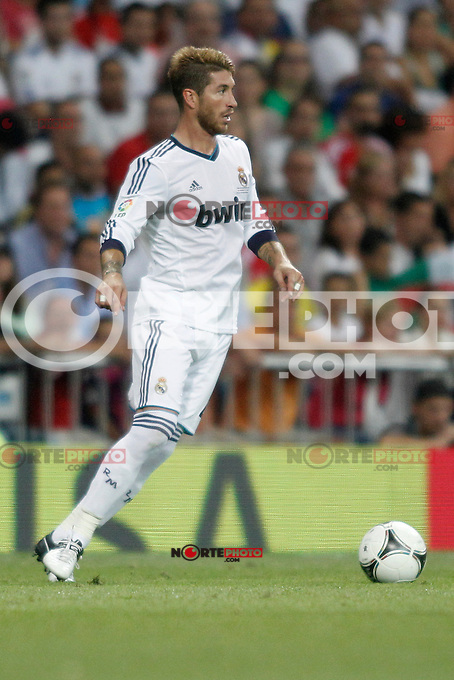 Real Madrid's  Sergio Ramos during Super Copa of Spain on Agost 29th 2012...Photo:  (ALTERPHOTOS/Ricky) Super Cup match. August 29, 2012. <br />