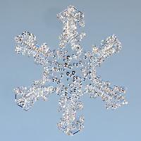 Snowflake Coszcatl - Macro photograph of a Stellar Plate Snowflake