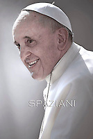 Pope Francis during  general audience in St. Peter square at the Vatican. October 1, 2014