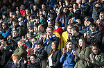 Raith Rovers v St Johnstone....08.03.14    Scottish Cup Quarter Final<br /> Happy saints fans<br /> Picture by Graeme Hart.<br /> Copyright Perthshire Picture Agency<br /> Tel: 01738 623350  Mobile: 07990 594431
