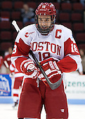 Wade Megan (BU - 18) - The Boston University Terriers defeated the visiting Northeastern University Huskies 5-0 on senior night Saturday, March 9, 2013, at Agganis Arena in Boston, Massachusetts.