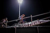 Christine Majerus (LUX/Boels-Dolmans) crossing the bridge<br /> <br /> Elite Women's race<br /> Superprestige Diegem 2016