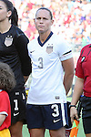 10 November 2013: Christie Rampone (USA). The United States Women's National Team played the Brazil Women's National Team at the Citrus Bowl in Orlando, Florida in an international friendly soccer match.