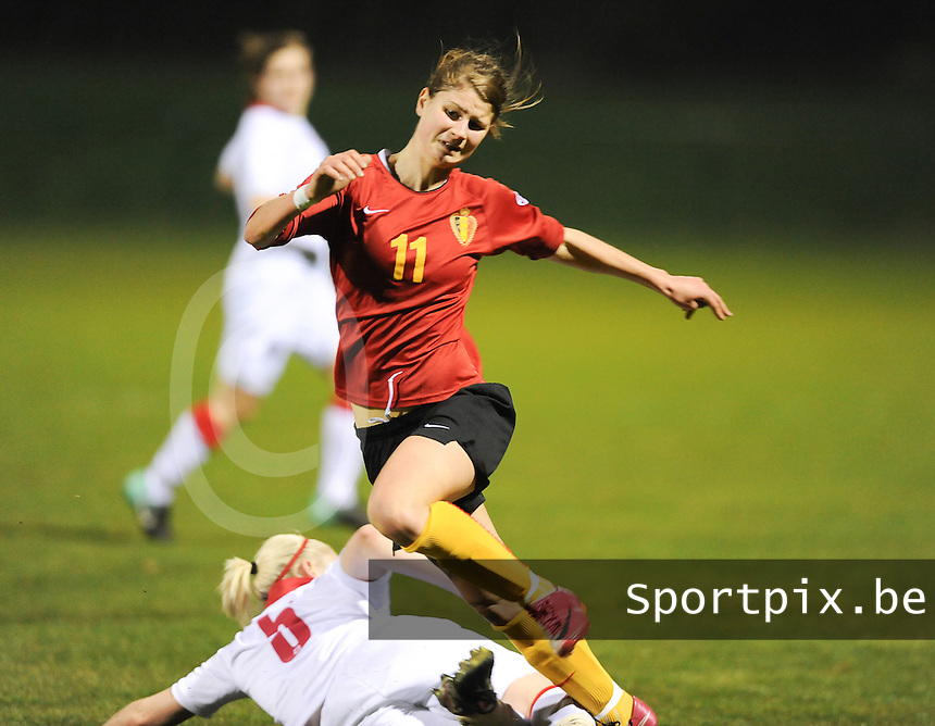 Belgium U19 - Wales U19 : Ellen Charlier (11)<br /> foto David Catry / nikonpro.be