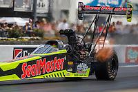 Jun 18, 2016; Bristol, TN, USA; NHRA top fuel driver J.R. Todd during qualifying for the Thunder Valley Nationals at Bristol Dragway. Mandatory Credit: Mark J. Rebilas-USA TODAY Sports
