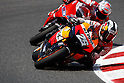 July 4, 2010 - Catalunya, Spain - Dani Pedrosa powers his bike during the Catalunya Grand Prix on July 4, 2010. (Photo Andrew Northcott/Nippon News).