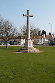 Memorial to the local men and women who were killed in two world wars.  Giggs Hill Green, Thames Ditton, Surrey.