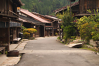 The Nakasendo road -- one of Japan's Edo Period Highways -- runs through the traditional post town of Tsumago