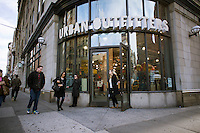 """An Urban Outfitters retail store in the Greenwich Village neighborhood of New York on Wednesday, January 11, 2012. The CEO of the retailer, Glen Senk, has left the company to """"pursue another opportunity."""" (© Richard B. Levine)"""