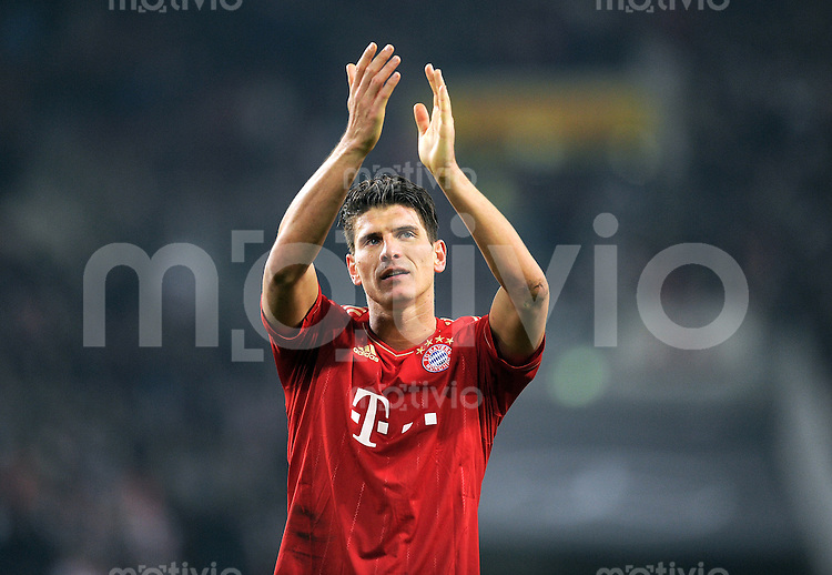 Fussball 1. Bundesliga:  Saison   2011/2012    16. Spieltag VfB Stuttgart - FC Bayern Muenchen  11.12.2011 Mario Gomez (FC Bayern Muenchen)