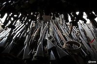 """Prop guns are offered for rent at a warehouse at Hengdian World Studios in Hengdian July 24, 2015. A family-owned warehouse offers costumes and props for everything from historical World War Two dramas to contemporary productions, filmed at Hengdian World Studios. The facility itself, located in China's Zheijang province, is the biggest movie lot ever built. Director Li Xiaoqiang said the series is about a Qing Dynasty prince, who joined the Chinese nationalist army after suffering family misfortune. """"After he learnt more about the Communist Party, the prince began to understand what real revolution and the anti-Japanese war meant, and turned to the Communist Party to fight Japan"""", the director added. According to local media, more than 10 new movies, 12 TV dramas, 20 documentaries and 183 war-themed stage performances will be released in China to coincide with the 70th anniversary of the end of World War Two. REUTERS/Damir SagoljPICTURE 25 OF 28 FOR WIDER IMAGE STORY """"BEHIND THE SCENES OF A CHINESE WAR DRAMA"""".SEARCH """"SAGOLJ STUDIO"""" FOR ALL PICTURES."""