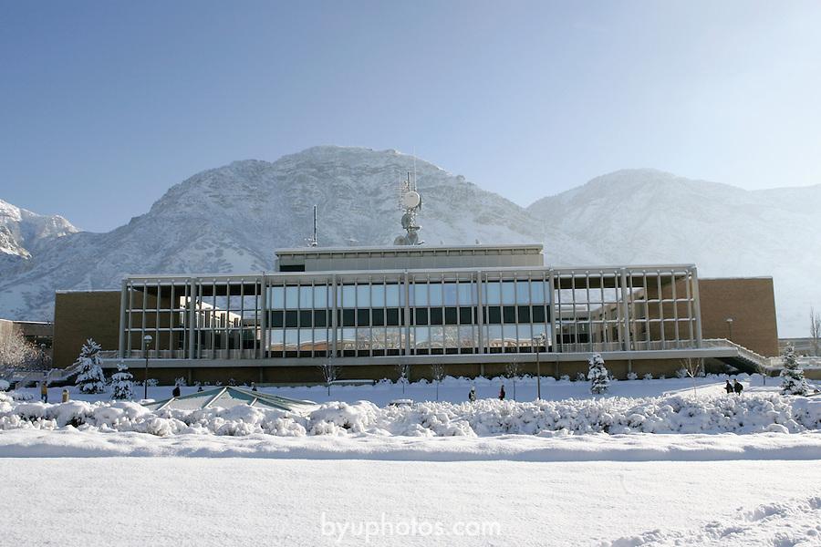 GCS Campus with Snow.January 7, 2004.Photography by Mark A. Philbrick.HFAC Harris Fine Arts Center