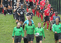 BOYDS, MARYLAND - July 21, 2012:  Players of DC United Women and of the Virginia Beach Piranhas during a W League Eastern Conference Championship semi final match at Maryland Soccerplex, in Boyds, Maryland on July 21. DC United Women won 3-0.