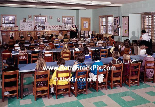 Children in kindergarten classroom
