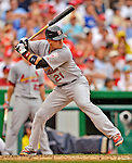 2 September 2012: St. Louis Cardinals first baseman Allen Craig in action against the Washington Nationals at Nationals Park in Washington, DC. The Nationals edged out the visiting Cardinals 4-3, capping their 4-game series with three wins. Mandatory Credit: Ed Wolfstein Photo