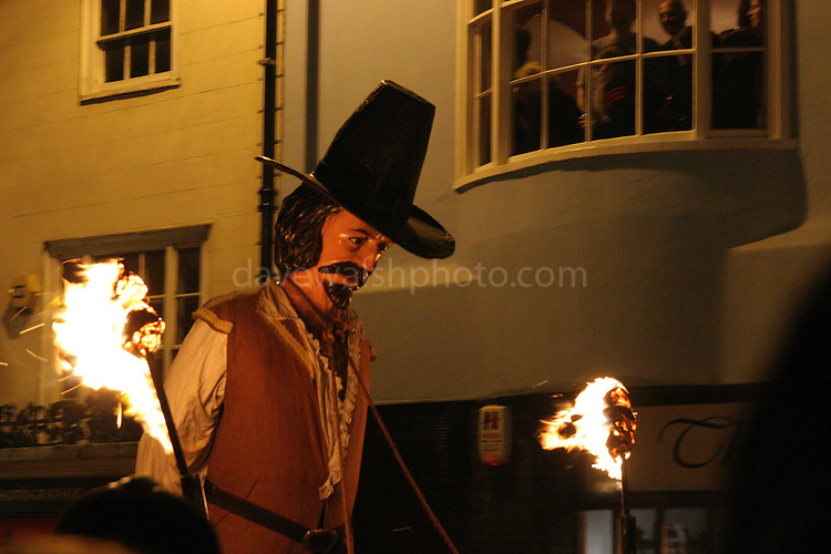 Effigy of Guy Fawkes on the streets of Lewes, Sussex, England, for Bonfire Night, November 5th, 2005.