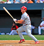 13 March 2009: St. Louis Cardinals' catcher Bryan Anderson in action during a Spring Training game against the Baltimore Orioles at Fort Lauderdale Stadium in Fort Lauderdale, Florida. The Cardinals defeated the Orioles 6-5 in the Grapefruit League matchup. Mandatory Photo Credit: Ed Wolfstein Photo
