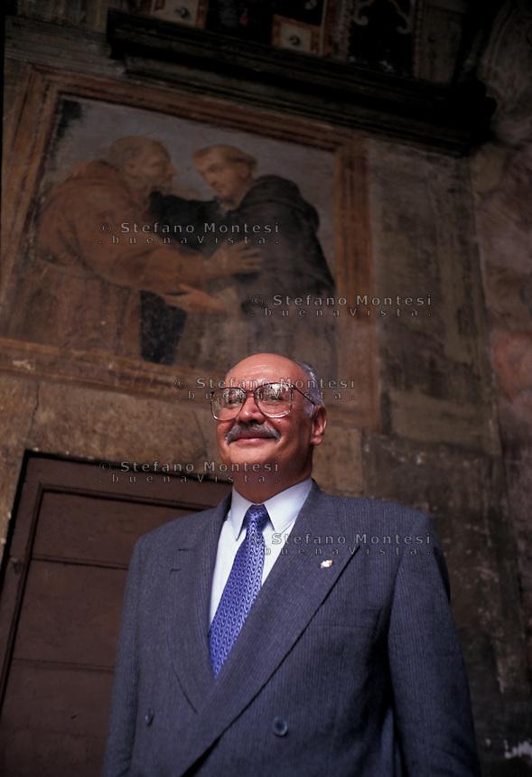 Roma 1996<br /> La Pace &egrave; il nome di Dio, Incontro Internazionale organizzato dalla Comunit&agrave; di Sant'Egidio<br /> Rodrigo Asturias Amado (30 October 1939 &ndash; 15 June 2005) was a Guatemalan guerrilla leader and politician.