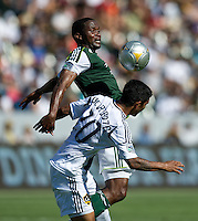 CARSON, CA - June 17, 2012: Portland Timbers midfielder Kalif Alhassan (11) during the LA Galaxy vs Portland Timbers match at the Home Depot Center in Carson, California. Final score LA Galaxy 1, Portland Timbers 0.