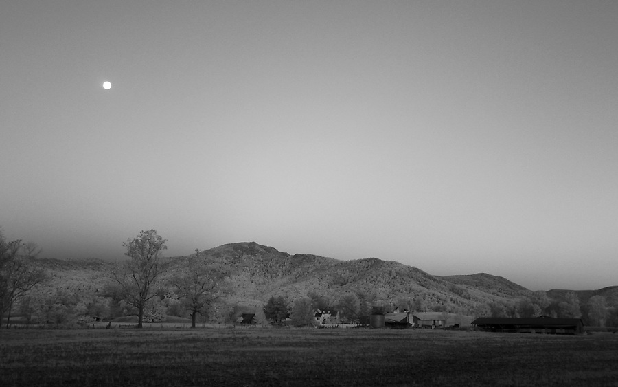 An infrared landscape in Madison County, Va. Photo/Andrew Shurtleff