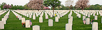 Grave markers at Fort Snelling National Cemetery in Minneapolis, Minnesota. Fort Snelling is one of 125 national cemeteries in 39 states and Puerto Rico. As of 2007, there were 176,567 buried in the cemetery.
