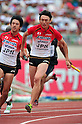 (L to R) Masashi Eriguchi (JPN), Shinji Takahira (JPN), JULY 8, 2011 - Athletics :The 19th Asian Athletics Championships Hyogo/Kobe, Men's 4x100m Relay Round 1 at Kobe Sports Park Stadium, Hyogo ,Japan. (Photo by Jun Tsukida/AFLO SPORT) [0003]
