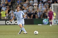 Michael Thomas (88) midfield Sporting KC in action..Sporting Kansas City and New England Revolution played to a 0-0 tie at LIVESTRONG Sporting Park, Kansas City, KS.