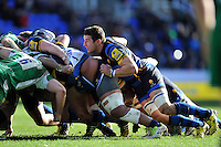 Phil Dowson of Worcester Warriors in action at a scrum. Aviva Premiership match, between London Irish and Worcester Warriors on February 7, 2016 at the Madejski Stadium in Reading, England. Photo by: Patrick Khachfe / JMP