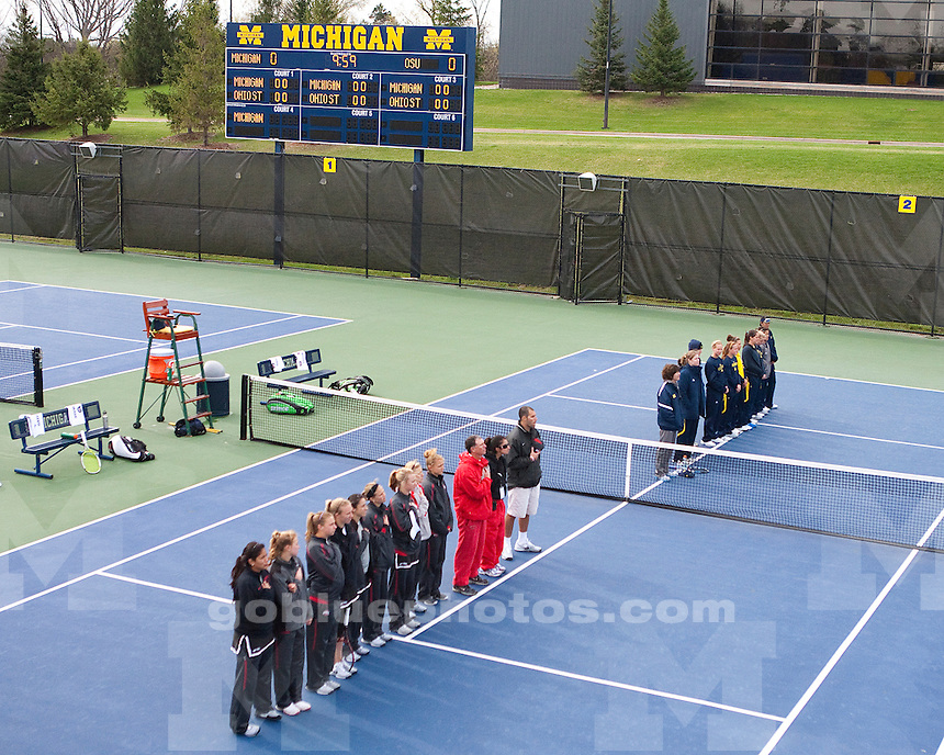 University of Michigan women's tennis 5-0 victory over Ohio State on Day 2 of the Big Ten Tournament at the Varsity Tennis Center in Ann Arbor, MI, on April 30, 2011.