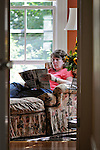 Kim McLanahan at her home in Cambridge, MA..© 2009 JON CRISPIN .Please Credit   Jon Crispin.Jon Crispin   PO Box 958   Amherst, MA 01004.413 256 6453.ALL RIGHTS RESERVED.