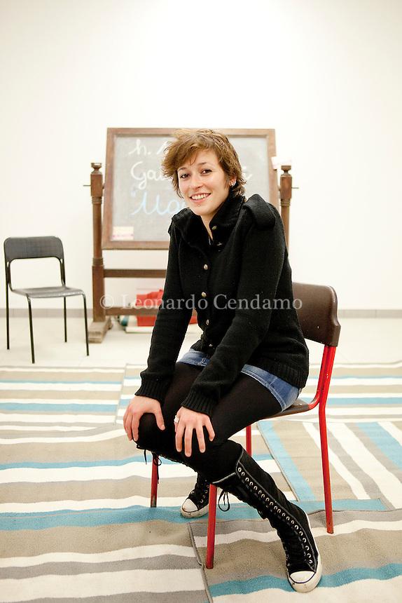 Gaia Rayneri, italian writer. Milan, 2011.  © Leonardo Cendamo
