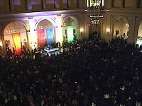 First Saturdays at Brooklyn Museum ' What the funk, James Brown vs. Fela held at The Rotunda.