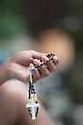 ND Vision rosary at the Grotto..Photo by Matt Cashore..All rights reserved.  No usage without proper authorization and/or compensation...To contact Matt Cashore:.cashore1@michiana.org.574-220-7288.574-233-6124.www.mattcashore.com..