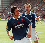 Rino Gattuso scores against Hearts at Tynecastle and gets acclaim from Alex Cleland