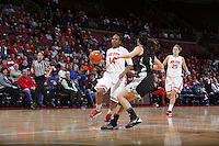 Ohio State Buckeyes guard Ameryst Alston (14) is guarded by Army Black Knights guard Kelsey Minato (5) during the first half of Friday's NCAA Division I basketball game at Value City Arena in Columbus on December 13, 2013. (Barbara J. Perenic/The Columbus Dispatch)