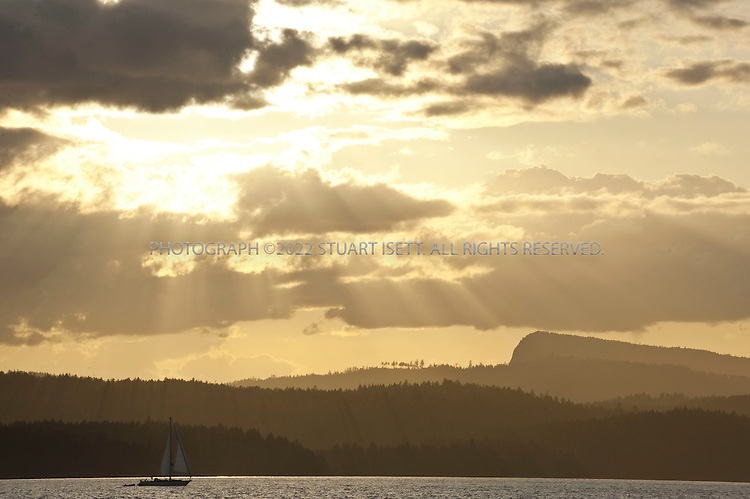 8/25/2009--Pender Island, British Columbia, Canada..Sunset views of the Gulf Islands from Thieves Bay on Pender Island...©2009 Stuart Isett. All rights reserved.