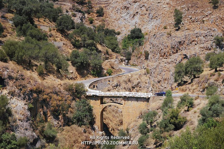 Old stone bridge near Rodakino, Crete, Greece
