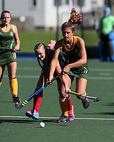 Action during the Secondary School Girls ANZAC hockey Invitational Tournament between St Margaret's College and St Matthews at St Cuthbert's College, Remuera,  New Zealand. Friday 28 April 2017. Photo:Simon Watts / www.bwmedia.co.nz