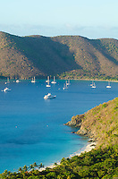 View of Cinnamon Bay<br /> from the luxury villa<br /> Hakuna Matata in Catherineberg<br /> Virgin Islands National Park<br /> St. John USVI