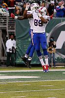 Buffalo Bills, Sammy Watkins, WR,  and Chris Gragg celebrates after scoring a touchdown against New York Jets during their NFL game at MetLife Stadium in New Jersey. 09.05.2014. VIEWpress