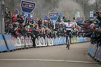 European Champion Toon Aerts (BEL/Telenet-Fidea) victoriously in the men's elite race<br /> <br /> GP Sven Nys 2017