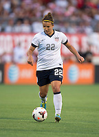 Amber Brooks (22) of the USWNT brings the ball forward during an international friendly at the Florida Citrus Bowl in Orlando, FL.  The USWNT defeated Brazil, 4-1.