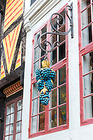 Detail of grapes at Den Gamle By, The Old Town, open-air folk museum at Aarhus,  East Jutland, Denmark