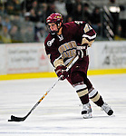 "19 January 2007: Boston College forward Dan Bertman from Calgary, AB, in action during a Hockey East matchup against the University of Vermont at Gutterson Fieldhouse in Burlington, Vermont. The UVM Catamounts defeated the BC Eagles 3-2 before a record setting 50th consecutive sellout at ""the Gut""...Mandatory Photo Credit: Ed Wolfstein Photo."