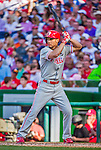 23 May 2015: Philadelphia Phillies outfielder Grady Sizemore in action against the Washington Nationals at Nationals Park in Washington, DC. The Phillies defeated the Nationals 8-1 in the second game of their 3-game weekend series. Mandatory Credit: Ed Wolfstein Photo *** RAW (NEF) Image File Available ***