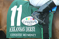 HOT SPRINGS, AR - APRIL 15: Conquest Mo Money #11, silks for the Arkansas Derby at Oaklawn Park on April 15, 2017 in Hot Springs, Arkansas. (Photo by Justin Manning/Eclipse Sportswire/Getty Images)