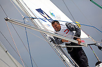 Top mark action from day 2 of Match Race Germany. World Match Racing Tour. Langenargen, Germany. 21 May 2010.